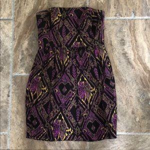 Shoshanna strapless ikat dress
